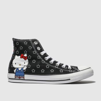 Converse Black & White All Star Hello Kitty Hi Womens Trainers