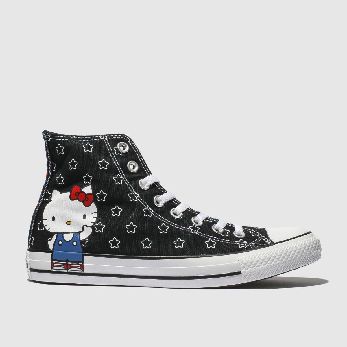 Converse Black & White All Star Hello Kitty Hi Trainers