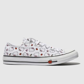 Converse White & Red All Star Hello Kitty Ox Womens Trainers