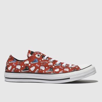 Converse Red All Star Hello Kitty Ox Womens Trainers
