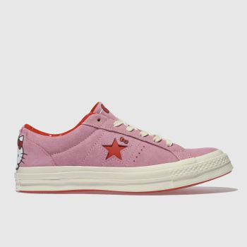 Converse Pink One Star Hello Kitty Suede Womens Trainers