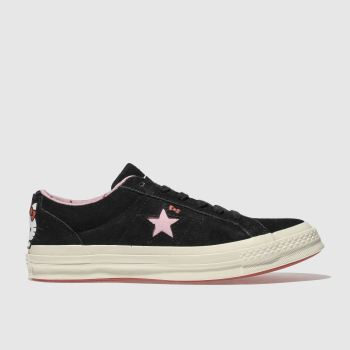 Converse Black One Star Hello Kitty Suede Womens Trainers