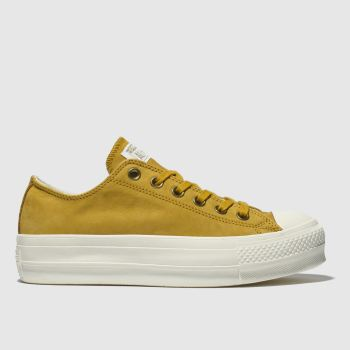 Converse Yellow All Star Clean Lift Platform Womens Trainers 784459c98e