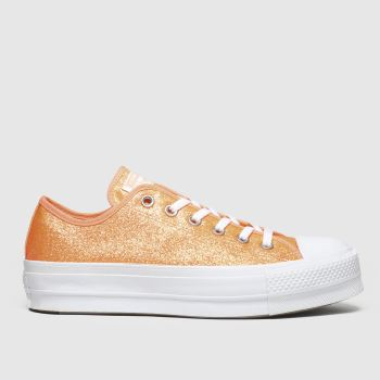 Converse Orange Clean Lift Neon Platform Damen Sneaker