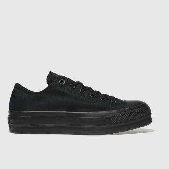 Converse Black Clean Lift Platform Womens Trainers
