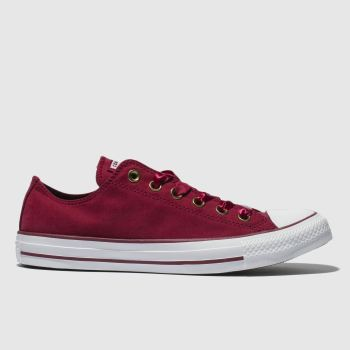 ccffe4bdbde7 Converse Burgundy Chuck Taylor All Star Ox Womens Trainers