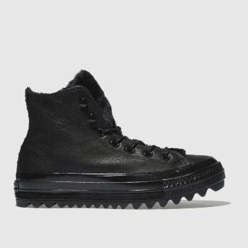 Converse Black All Star Lift Ripple Hi Womens Trainers