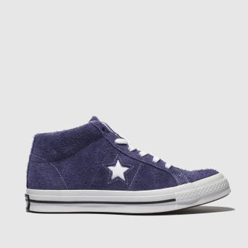 691ee4e96e07 Converse Purple One Star Mid Suede Womens Trainers