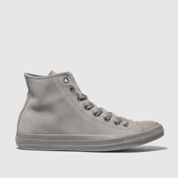 18cab95398c94e Converse Grey Chuck Taylor All Star Tonal Hi Womens Trainers