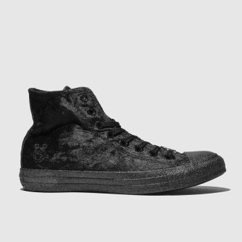 Converse Black All Star Hi X Miley Cyrus Womens Trainers