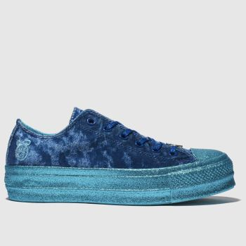 Converse Navy All Star Lift Ox X Miley Cyrus Womens Trainers