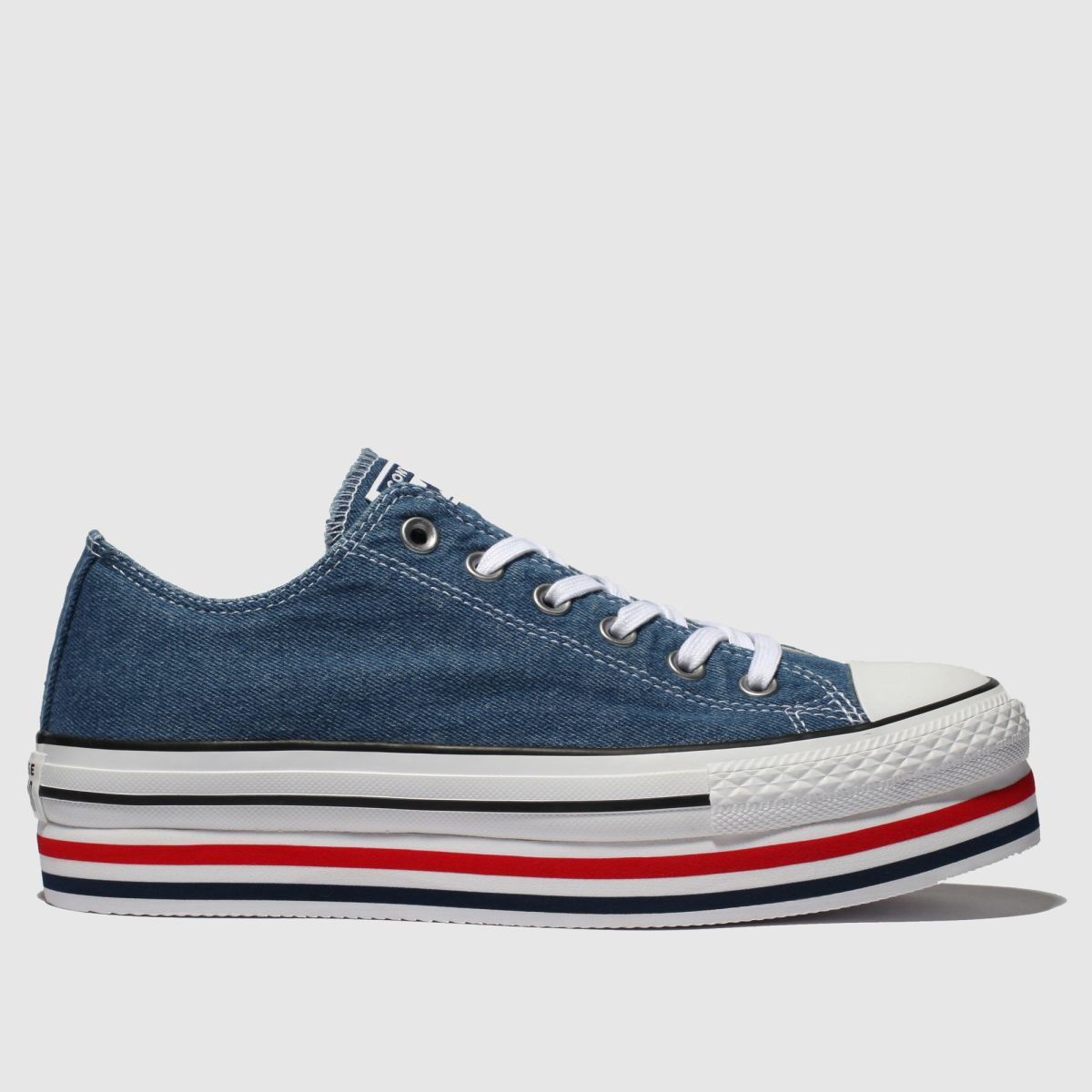 Converse Blue All Star Platform Layer Ox Trainers
