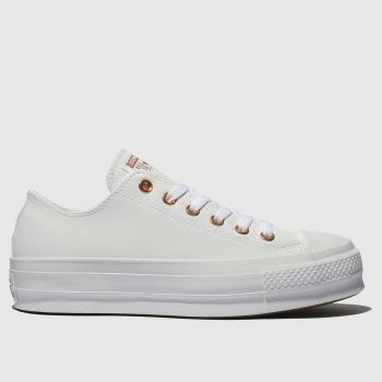 Converse White All Star Clean Lift Womens Trainers#