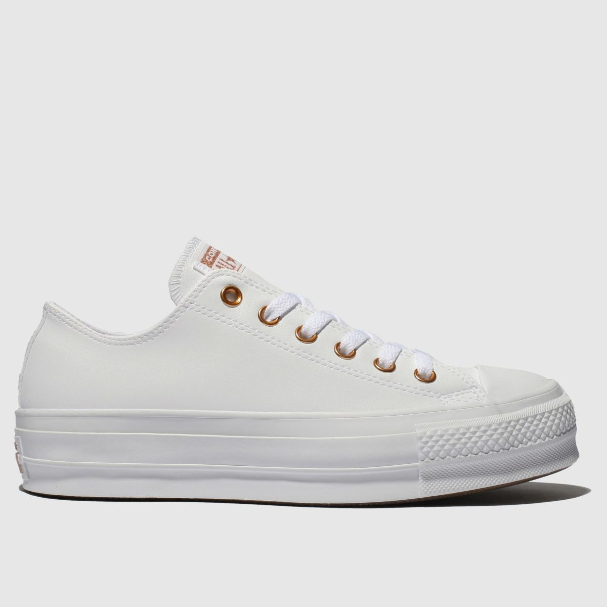 Converse White All Star Clean Lift Trainers | UK 8 | Female