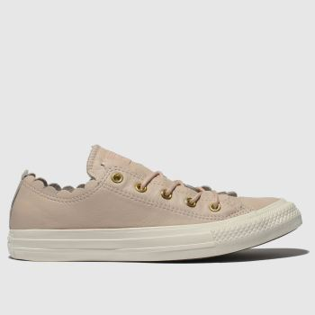 Converse Pale Pink All Star Frilly Thrills Ox Womens Trainers