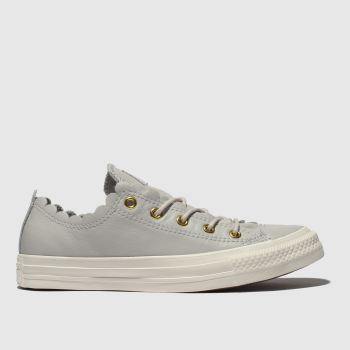 Converse Grey All Star Frilly Thrills Ox Womens Trainers