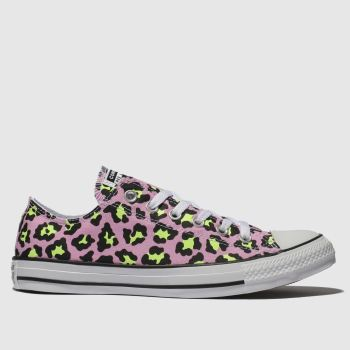 Converse Pink All Star Courtside Animal Ox Womens Trainers