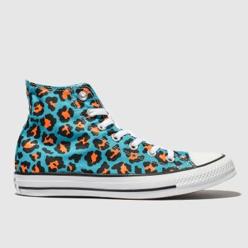 Converse Blue All Star Courtside Animal Hi Womens Trainers