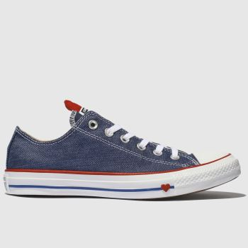 Converse Blue All Star Love Works Ox Womens Trainers