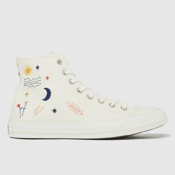 Converse white its ok to wander hi trainers