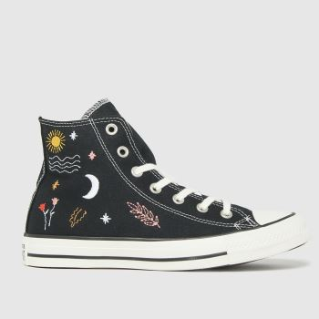 Converse Black Its Ok To Wander Hi Womens Trainers