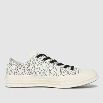 Converse Black & White Chuck 70 My Story Ox Womens Trainers