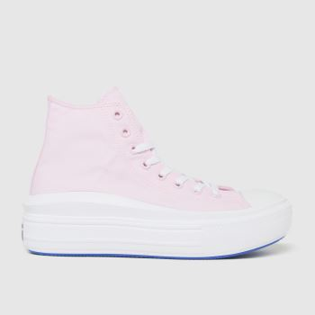 Converse Pale Pink All Star Metals Move Hi Womens Trainers