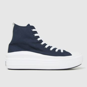 Converse Navy Anodized Metals Move Hi Womens Trainers