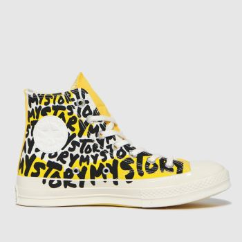 Converse Yellow Chuck 70 My Story Hi Womens Trainers