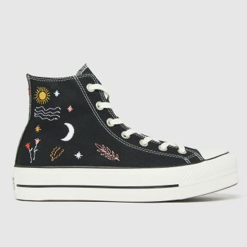 Converse Black Its Okay To Wander Lift Womens Trainers