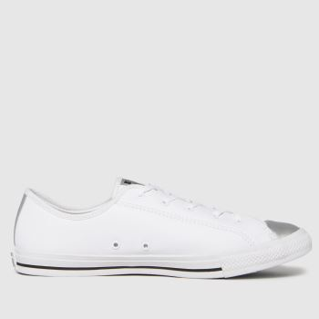 Converse White Dainty Ox Womens Trainers