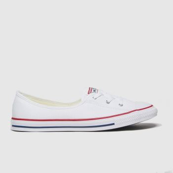 Converse White Ballet Lace Slip Womens Trainers