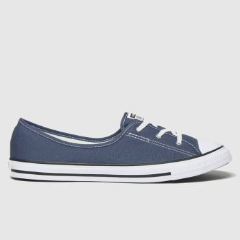 Converse Navy Ctas Ballet Lace Slip Womens Trainers