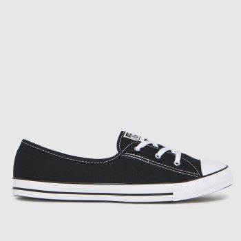 Converse Black Ballet Lace Slip Womens Trainers