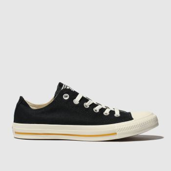 Converse Black All Star Washed Ox Womens Trainers