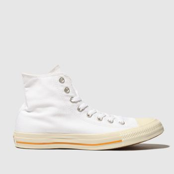 Converse White All Star Washed Hi Womens Trainers