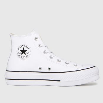 Converse White Lift Hi Leather Womens Trainers