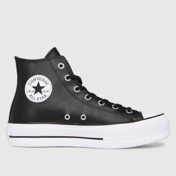 Converse Black Lift Hi Leather Womens Trainers