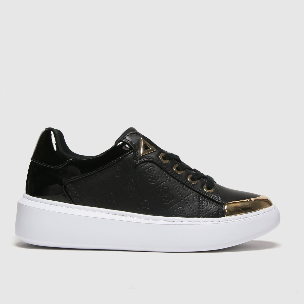 Guess Black & Gold Brandyn Trainers