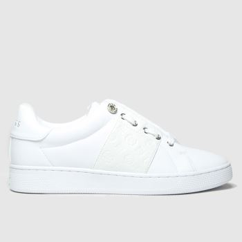 GUESS White Rejeena Womens Trainers#