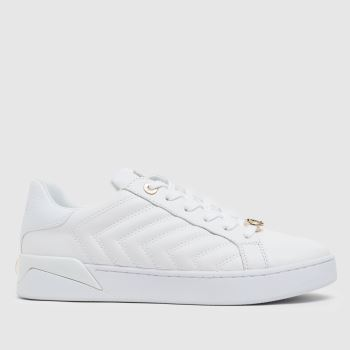 GUESS White & Gold Racheel Womens Trainers