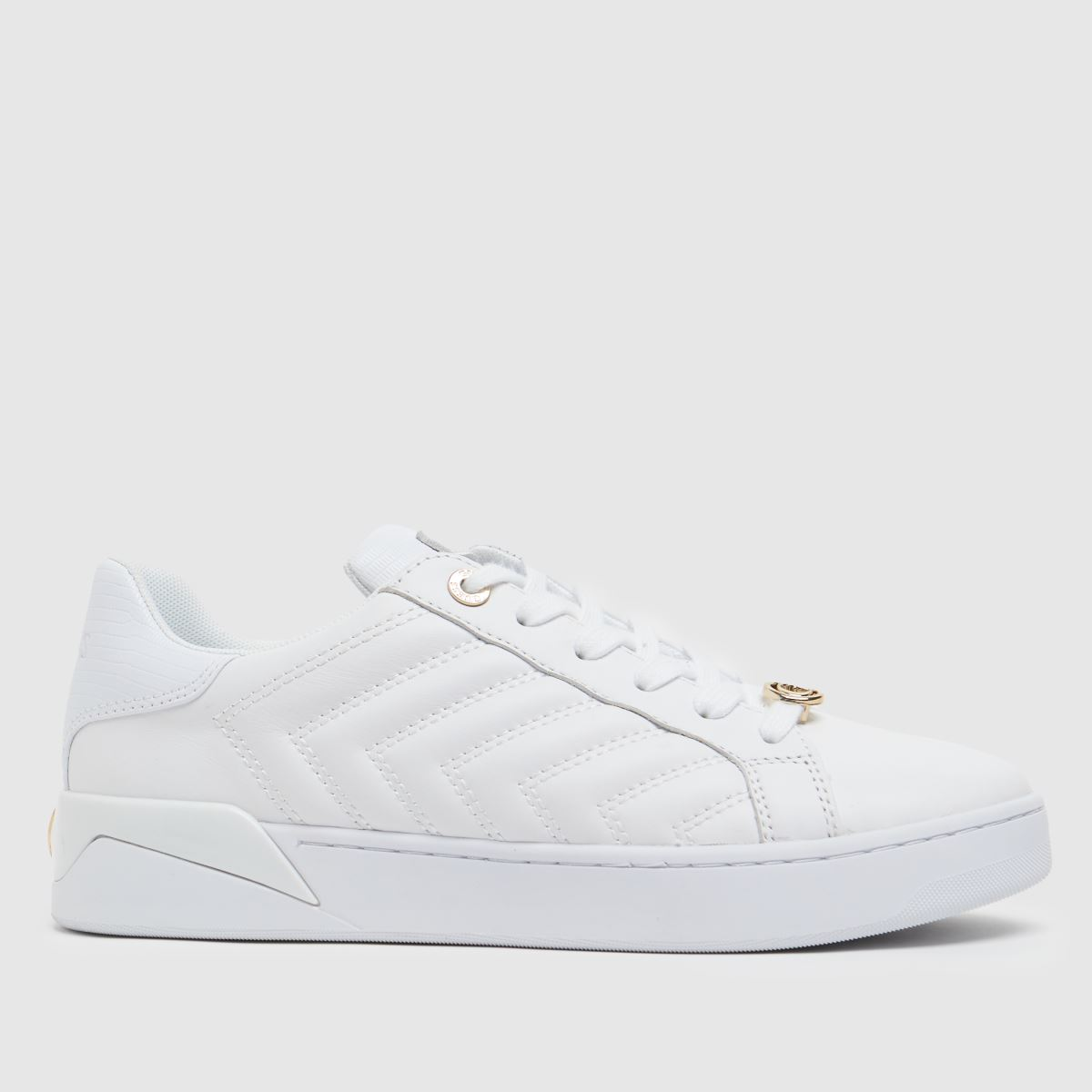 GUESS White & Gold Racheel Trainers