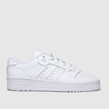 adidas white rivalry low trainers