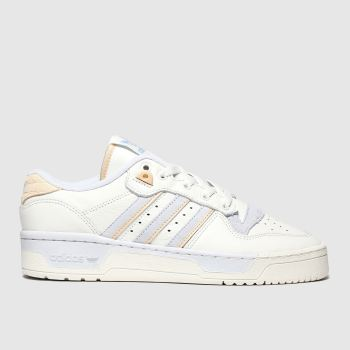 Adidas White & Pl Blue Rivalry Low Womens Trainers
