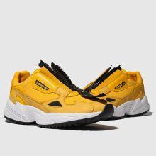 Damen adidas Gelb Falcon Zip Sneaker
