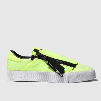 Adidas Yellow Sambarose Zip Womens Trainers