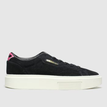 Adidas Black & pink Sleek Super Womens Trainers