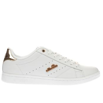 ELLESSE WHITE & ROSE GOLD ANZIA TRAINERS