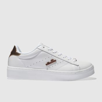 Ellesse White & Rose Gold ANZIA PLATFORM Trainers