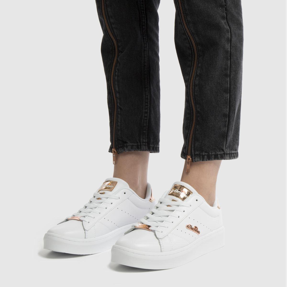 Damen Weiß-rosegold ellesse Anzia Platform Sneaker | schuh Gute Qualität beliebte Schuhe